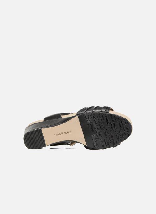 Sandales et nu-pieds Hush Puppies Eivee Noir vue haut