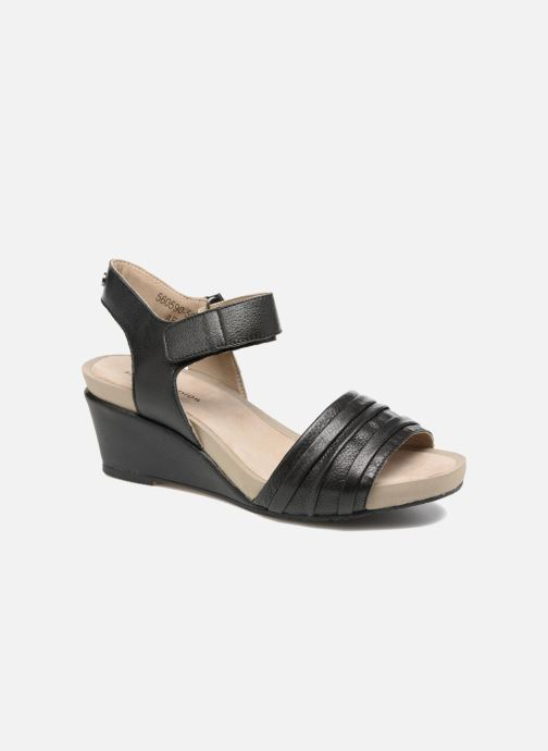 Sandales et nu-pieds Hush Puppies Eivee Noir vue détail/paire