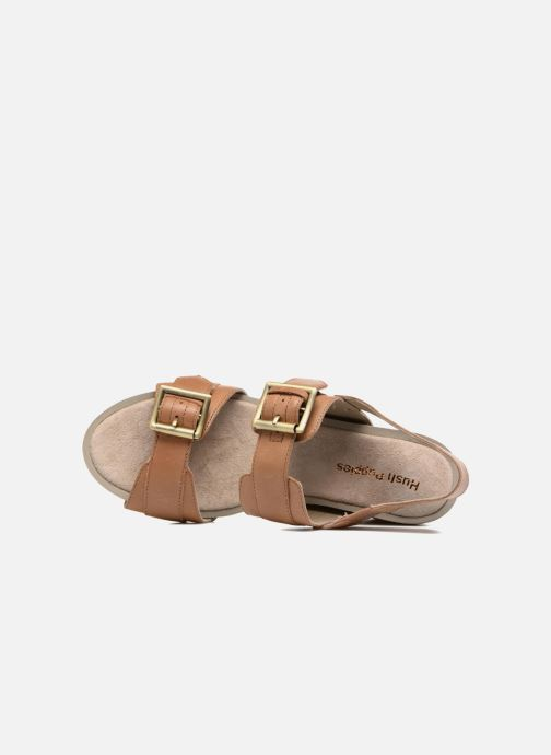 Sandalen Hush Puppies Leonie braun ansicht von links