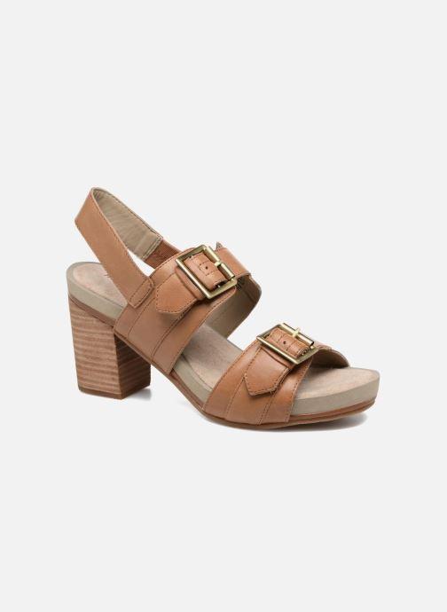 Sandales et nu-pieds Hush Puppies Leonie Marron vue détail/paire