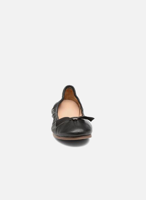 Ballerines Hush Puppies Lilas Noir vue portées chaussures