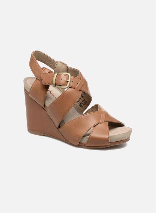 Sandales et nu-pieds Hush Puppies Fintan Marron vue détail/paire