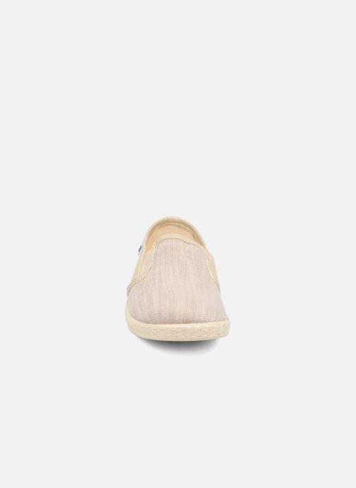 Espadrilles Conguitos Eduardo Beige vue portées chaussures