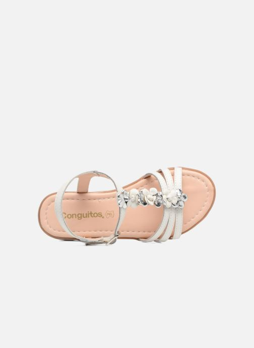 Sandales et nu-pieds Conguitos Eugenia Blanc vue gauche