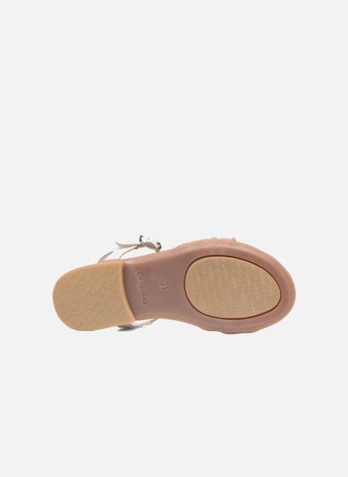 Sandales et nu-pieds Conguitos Eugenia Blanc vue haut