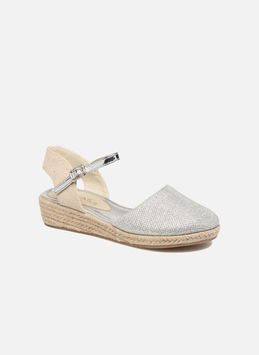 Espadrillos Fresas by Conguitos Clara Sølv detaljeret billede af skoene