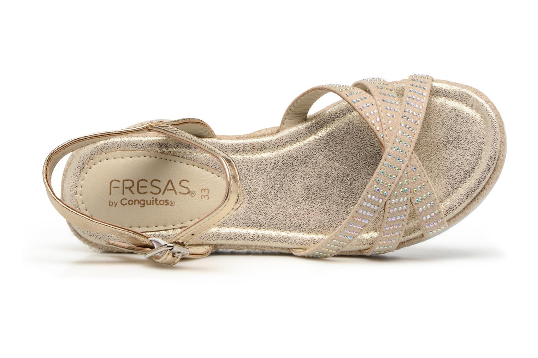 Sandalen Fresas by Conguitos Carolina Goud en brons links