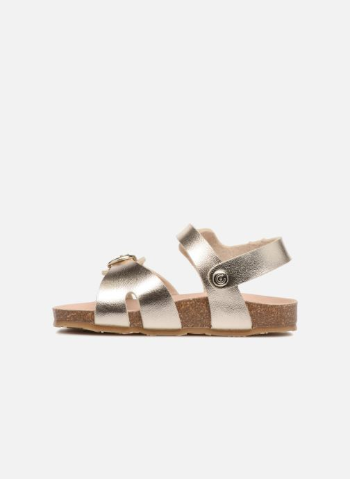 Sandals Osito by Conguitos Begona Bronze and Gold front view