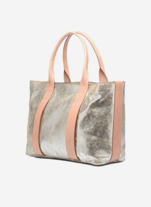 Handtaschen Clarks TASMIN BELLA Cabas cuir silber ansicht von rechts