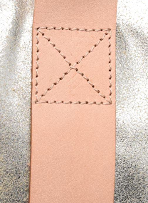 Bolsos de mano Clarks TASMIN BELLA Cabas cuir Plateado vista lateral izquierda