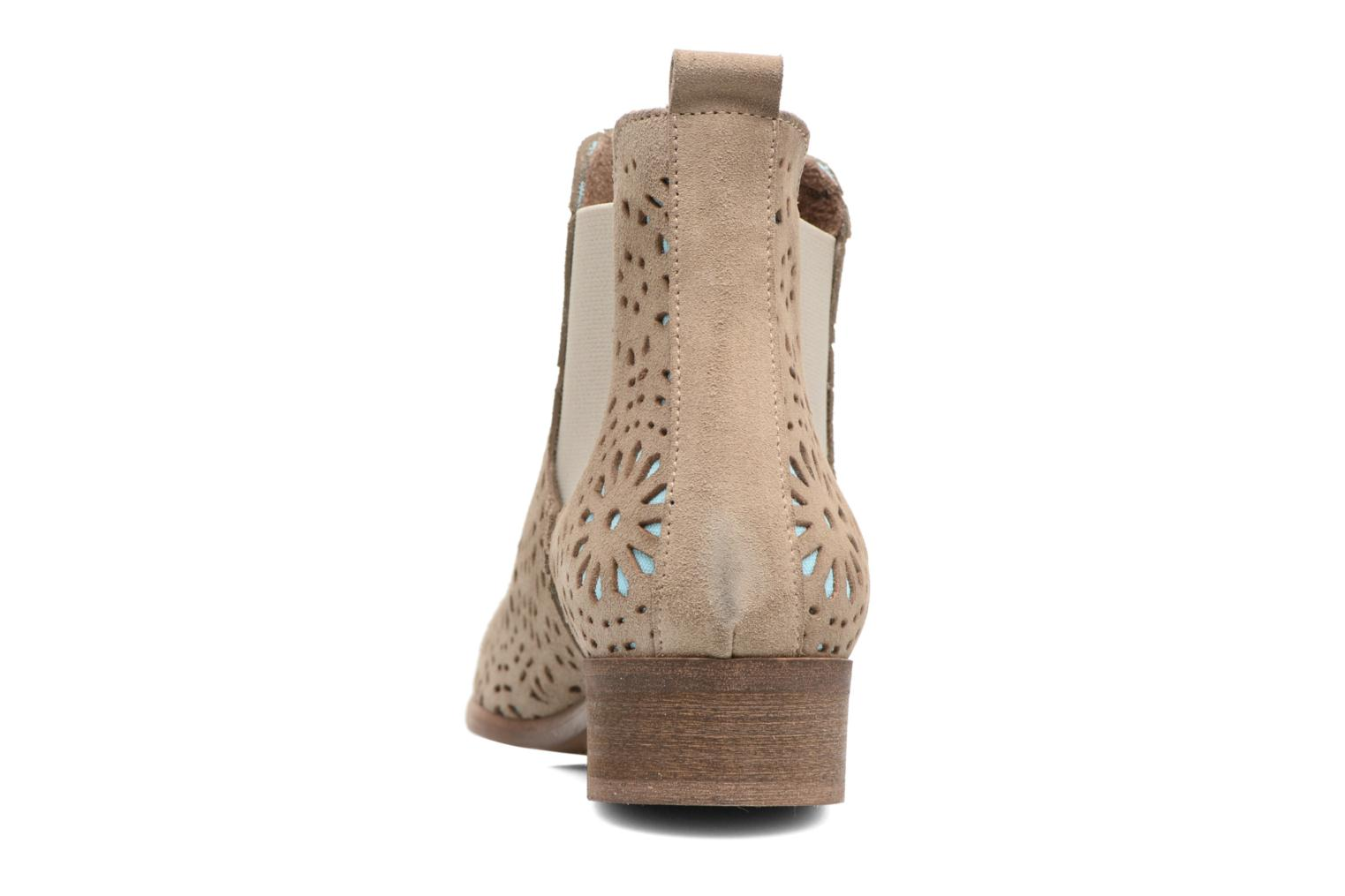 Ankle boots Bunker Zola Brenda Beige view from the right