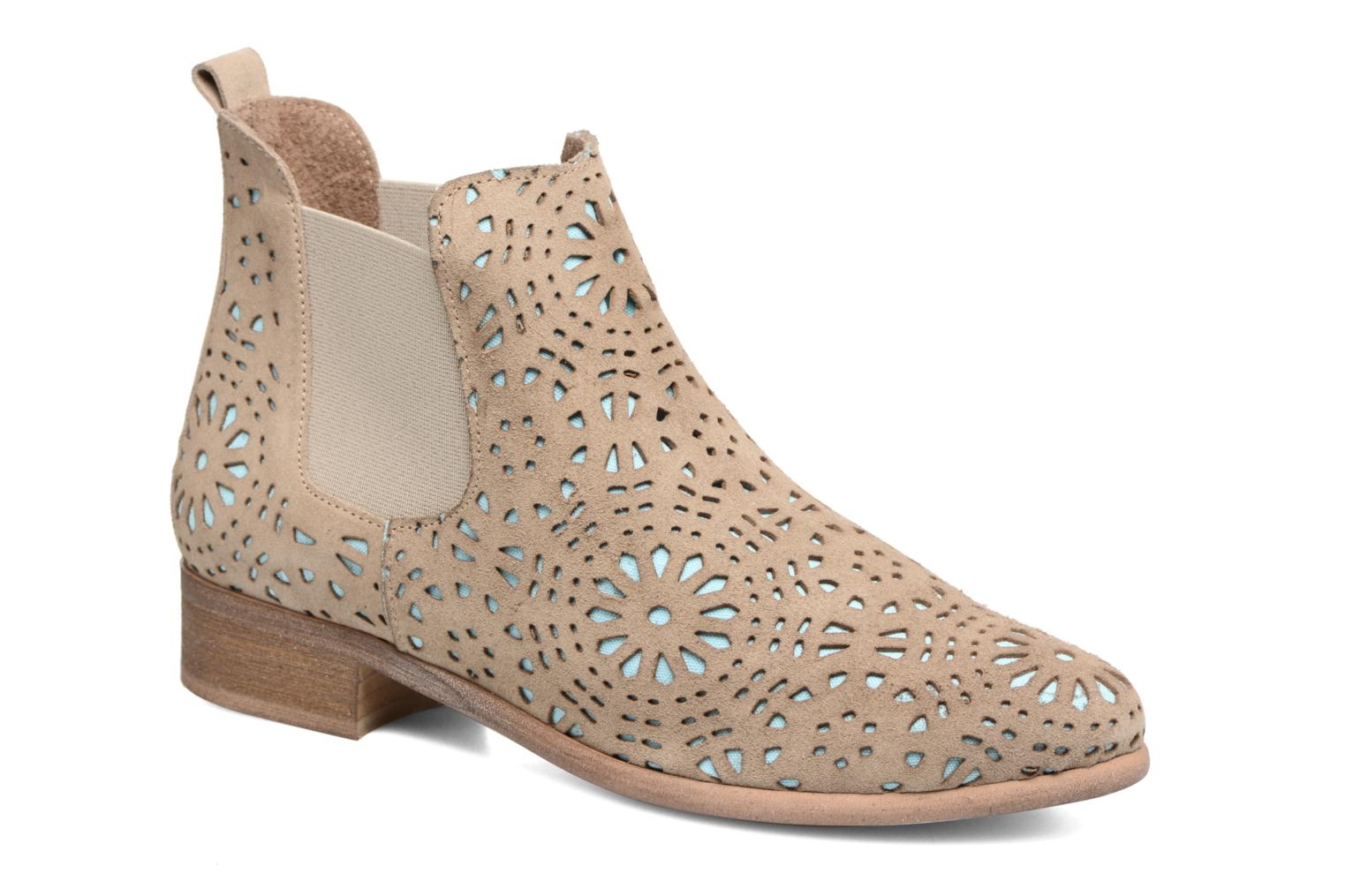 Ankle boots Bunker Zola Brenda Beige detailed view/ Pair view