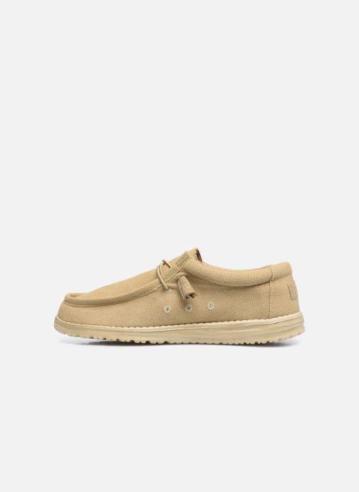 Chaussures à lacets DUDE Wally Classic Beige vue face