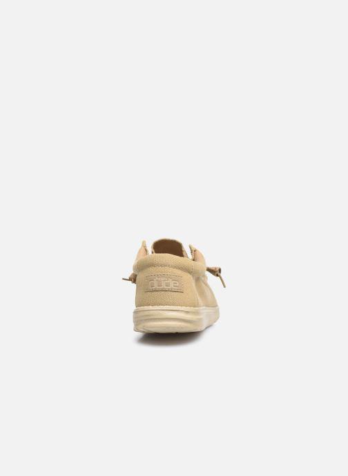 Chaussures à lacets DUDE Wally Classic Beige vue droite