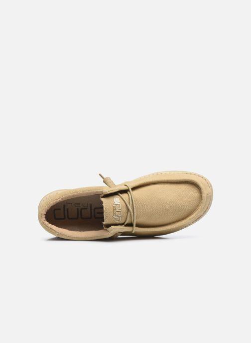 Chaussures à lacets DUDE Wally Classic Beige vue gauche