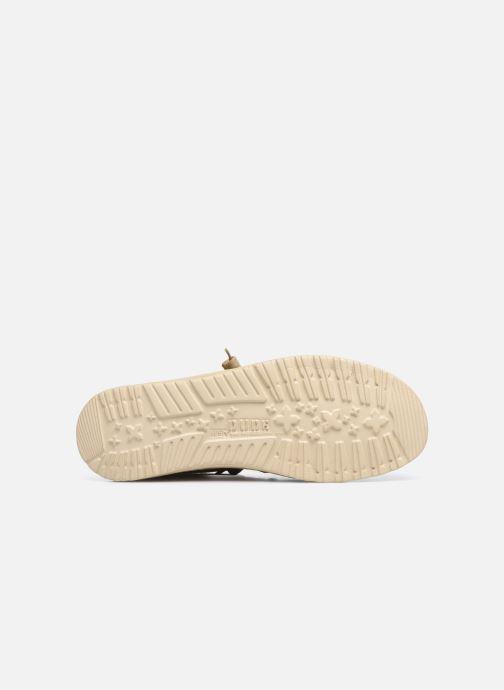 Chaussures à lacets DUDE Wally Classic Beige vue haut