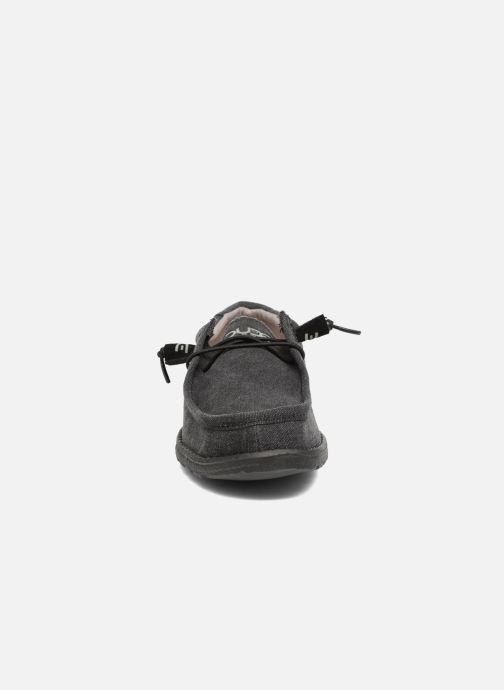 Chaussures à lacets DUDE Wally Classic Noir vue portées chaussures