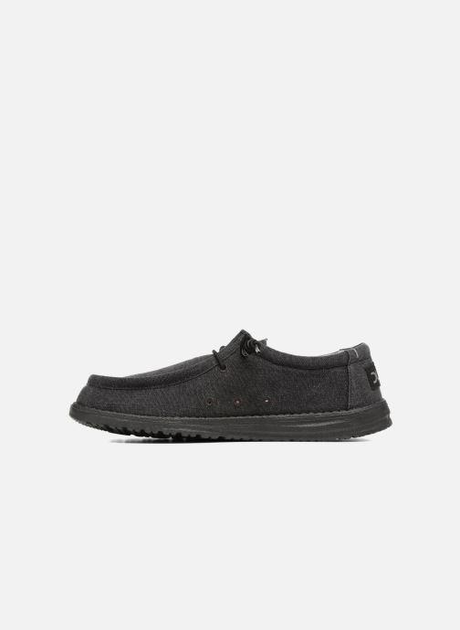 Chaussures à lacets DUDE Wally Classic Noir vue face