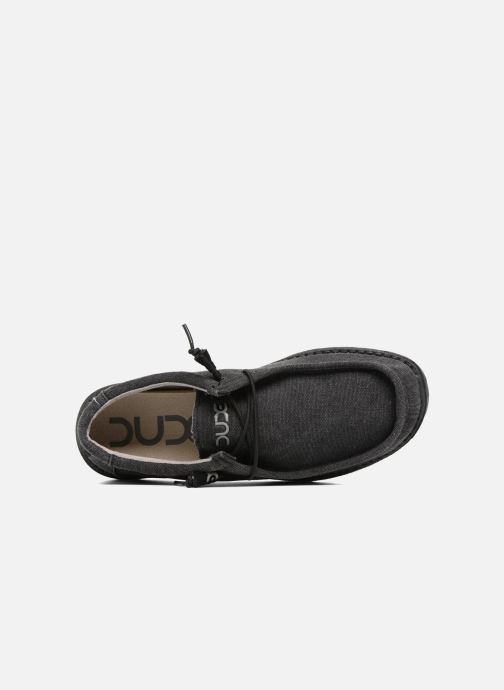 Chaussures à lacets DUDE Wally Classic Noir vue gauche