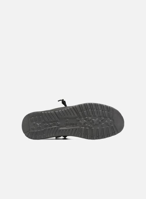Chaussures à lacets DUDE Wally Classic Noir vue haut
