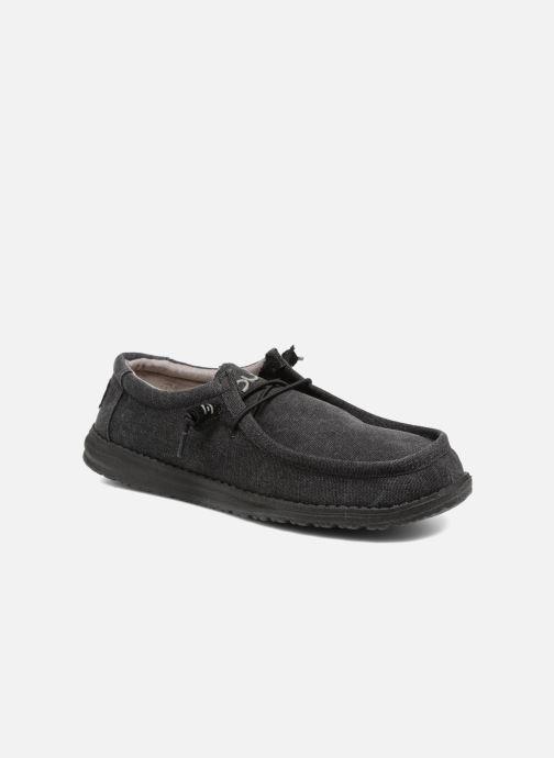 Chaussures à lacets DUDE Wally Classic Noir vue détail/paire