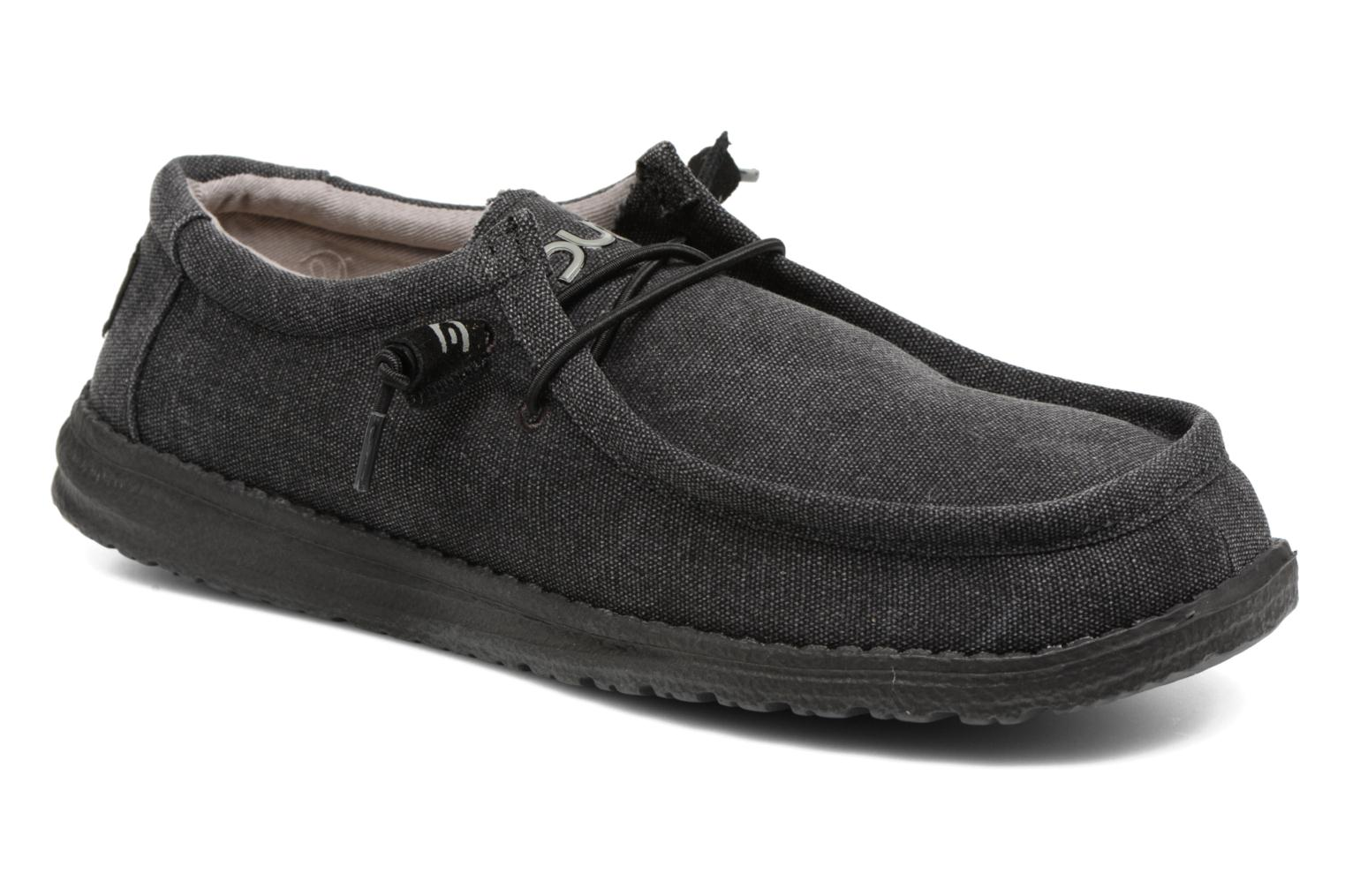 Lace-up shoes DUDE Wally Classic Black detailed view/ Pair view
