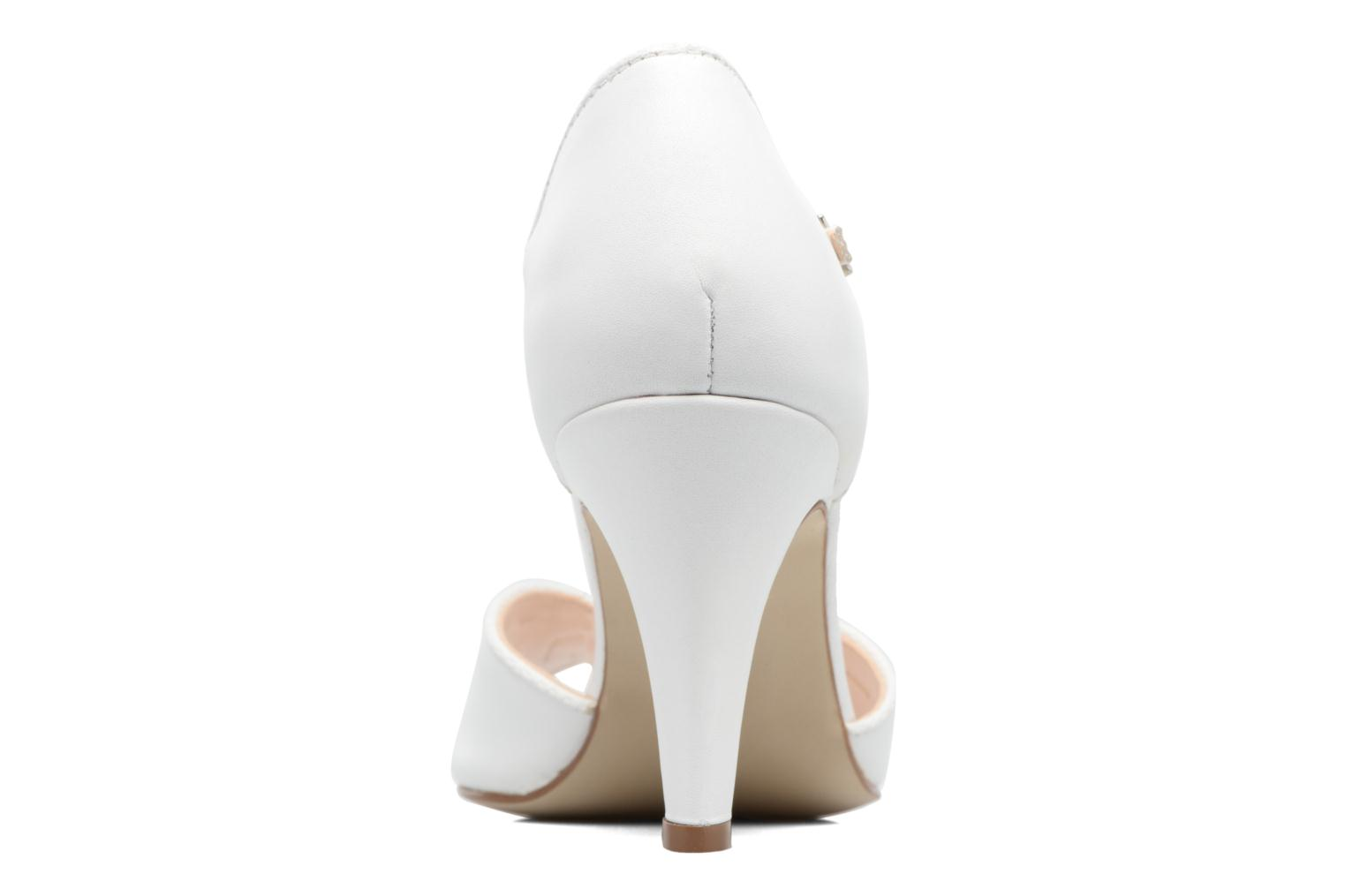 High heels Georgia Rose Gitango 3 White view from the right