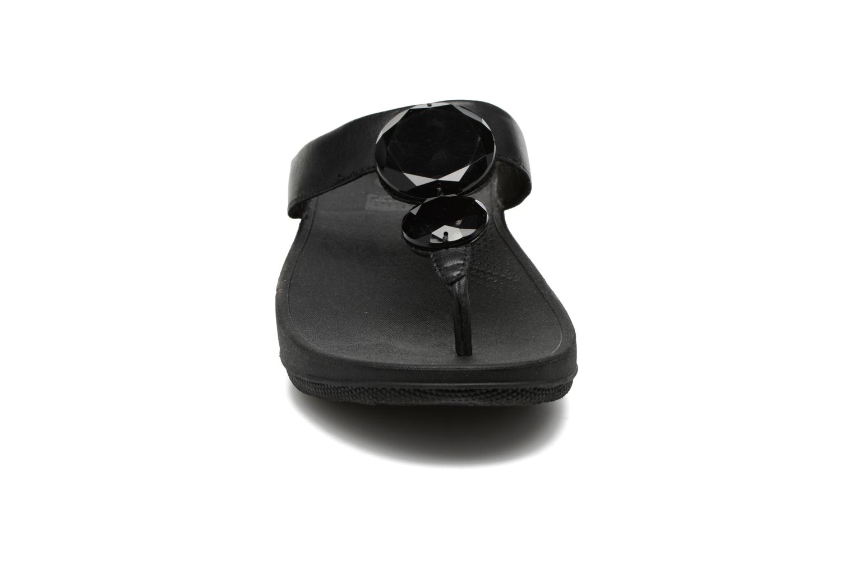 Tongs FitFlop Luna Pop Noir vue portées chaussures