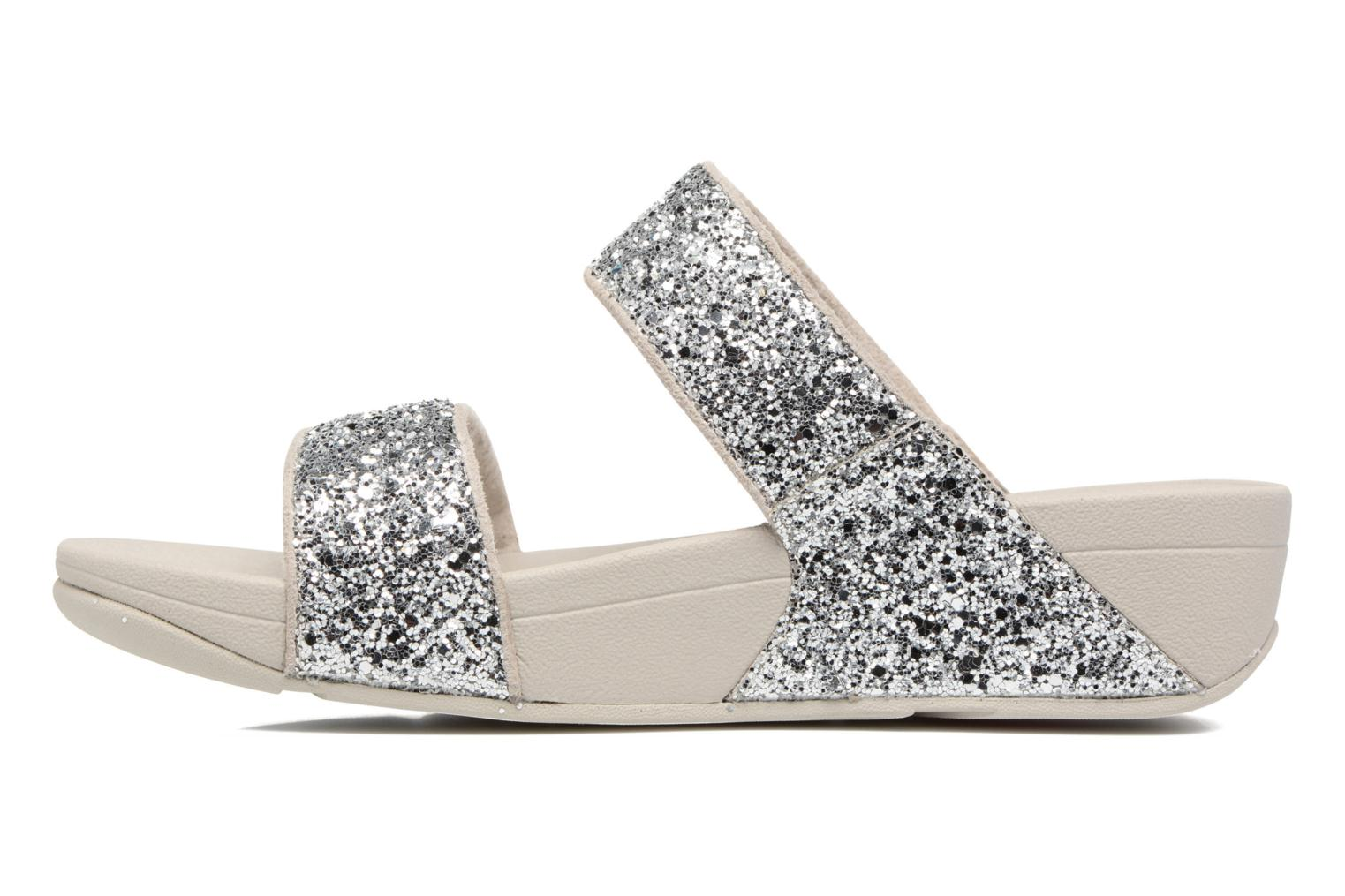 Mules & clogs FitFlop Glitterball Slide Silver front view