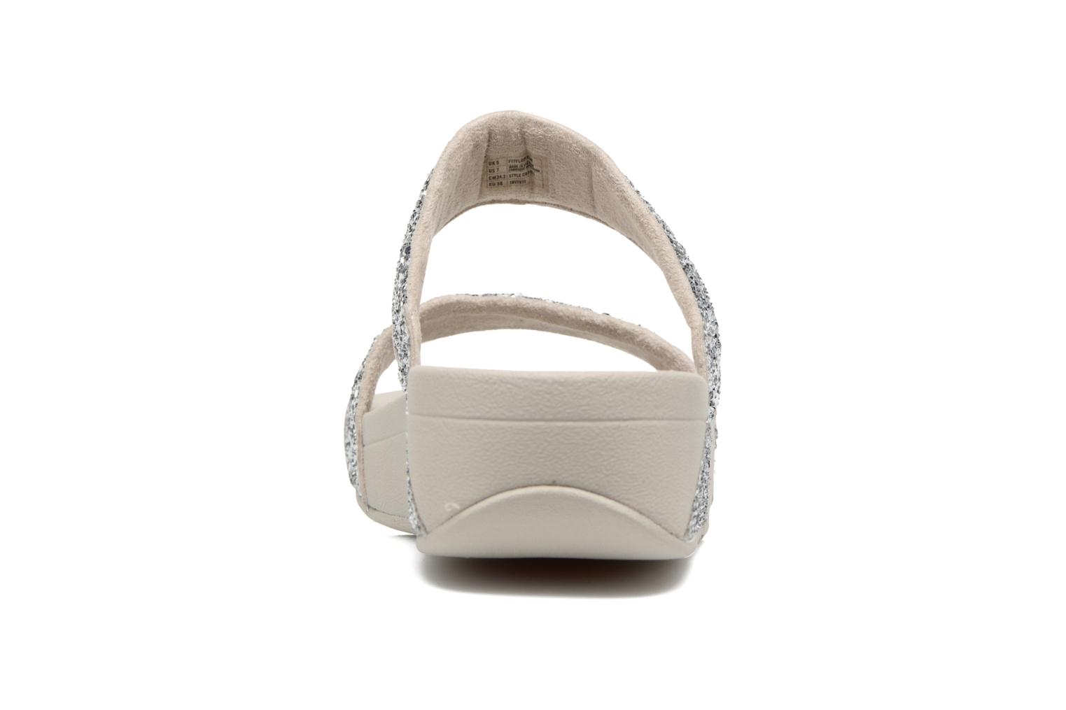 Mules & clogs FitFlop Glitterball Slide Silver view from the right