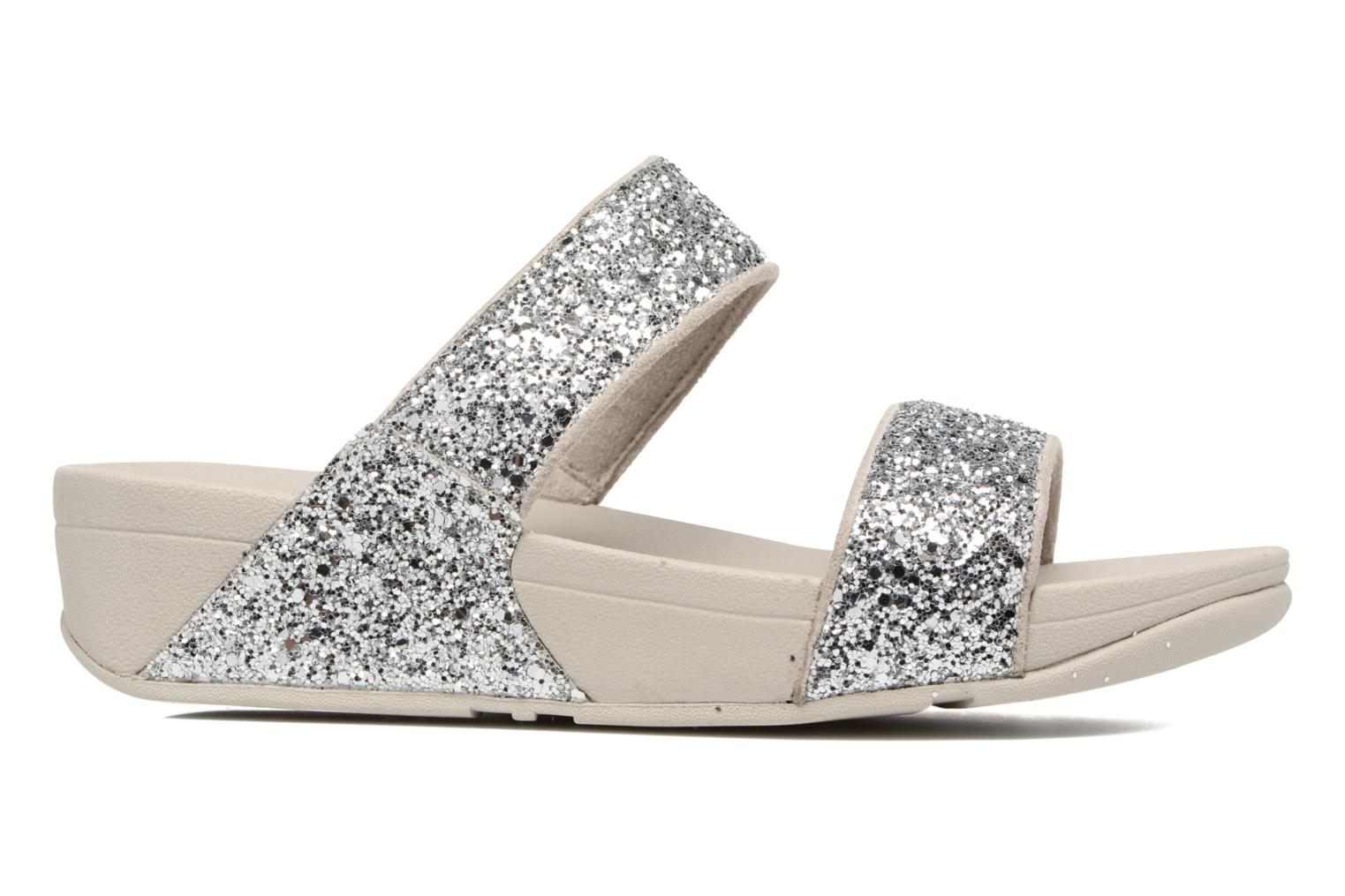 Mules & clogs FitFlop Glitterball Slide Silver back view