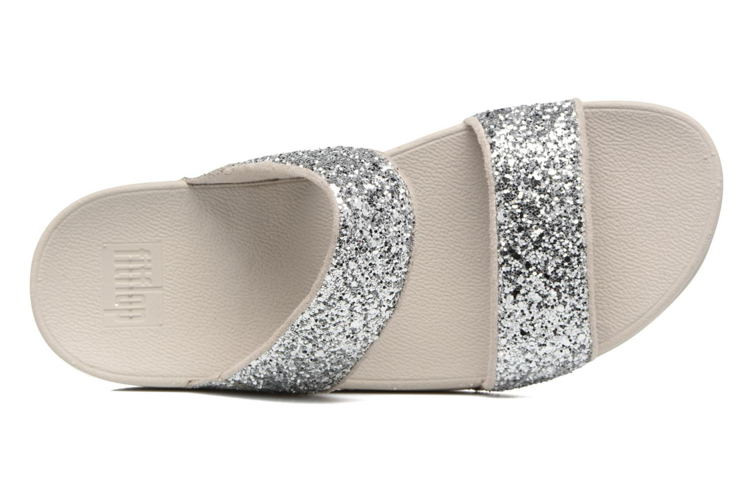 Mules & clogs FitFlop Glitterball Slide Silver view from the left