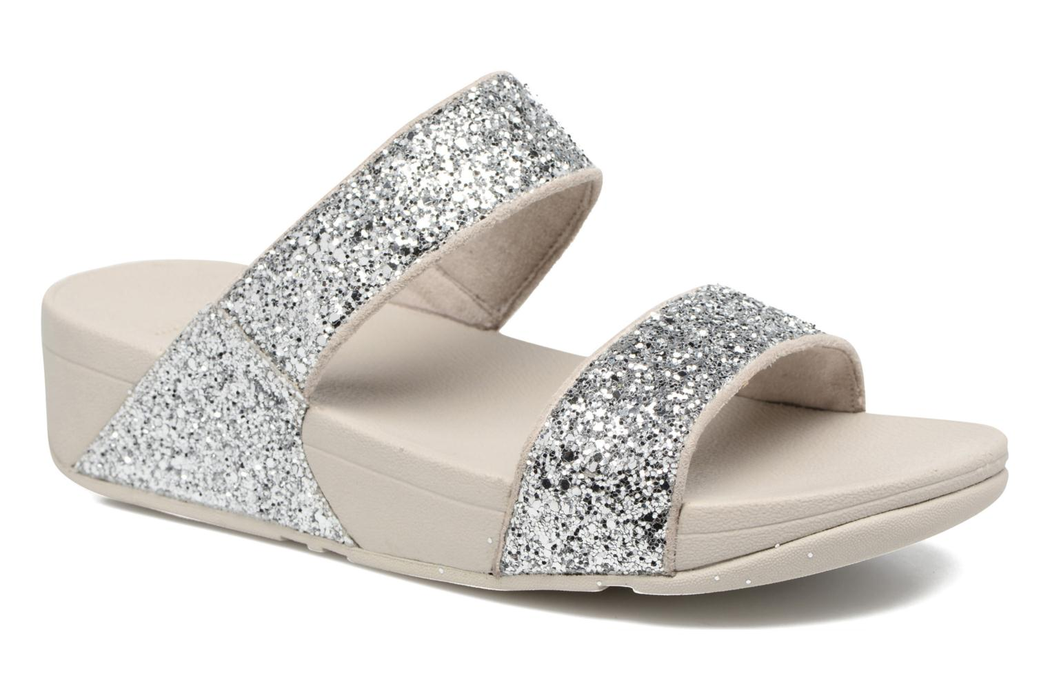 Mules & clogs FitFlop Glitterball Slide Silver detailed view/ Pair view