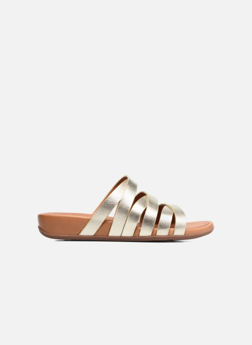 Mules & clogs FitFlop Lumy Leather Slide Bronze and Gold back view