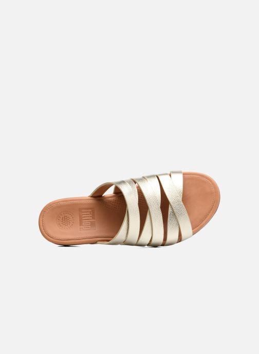 Clogs & Pantoletten FitFlop Lumy Leather Slide gold/bronze ansicht von links
