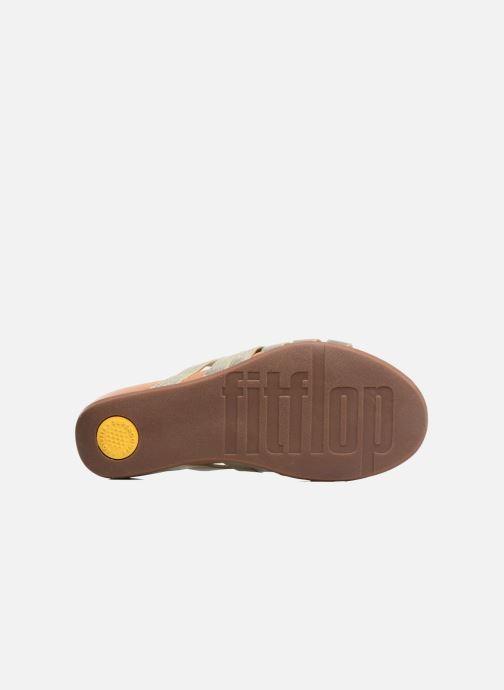 Clogs & Pantoletten FitFlop Lumy Leather Slide gold/bronze ansicht von oben