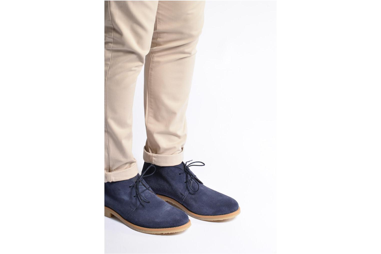 Chaussures à lacets Mr SARENZA Soldnen Bleu vue bas / vue portée sac
