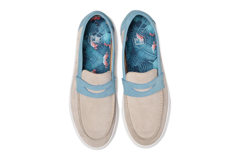 Mocassins Mr SARENZA Sakha Beige vue portées chaussures