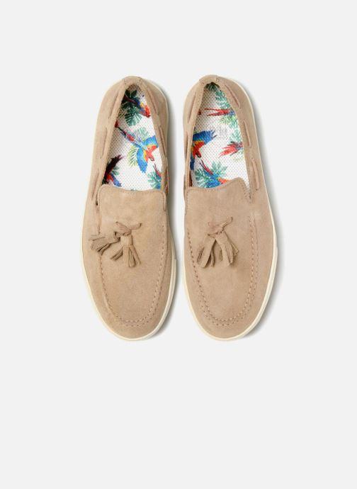 Mocassins Mr SARENZA Sokhor Beige vue portées chaussures