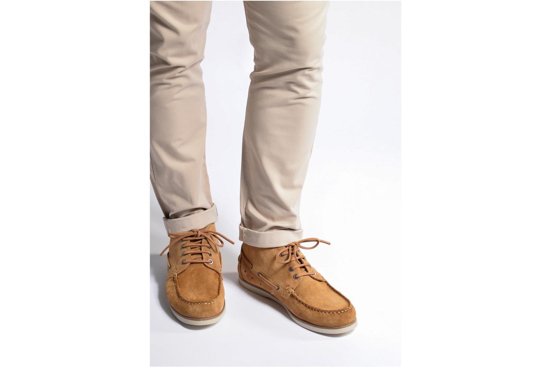 Chaussures à lacets Mr SARENZA Stavanger Marron vue bas / vue portée sac