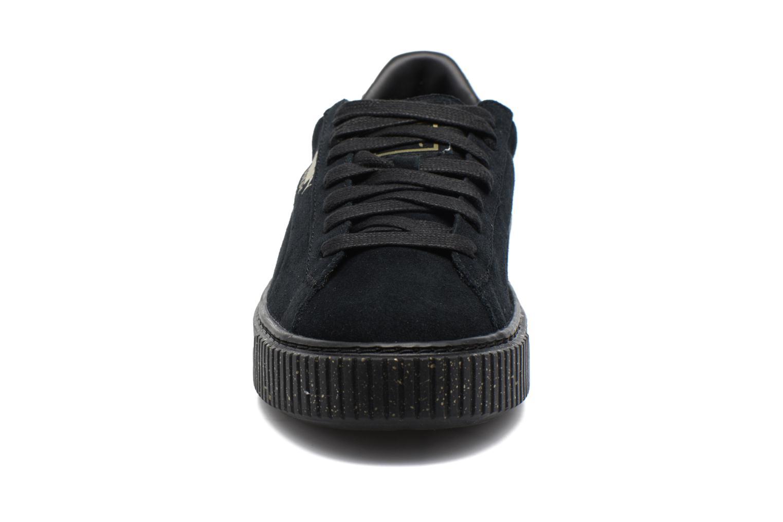 Baskets Puma Wns Suede Platform Speckle Noir vue portées chaussures