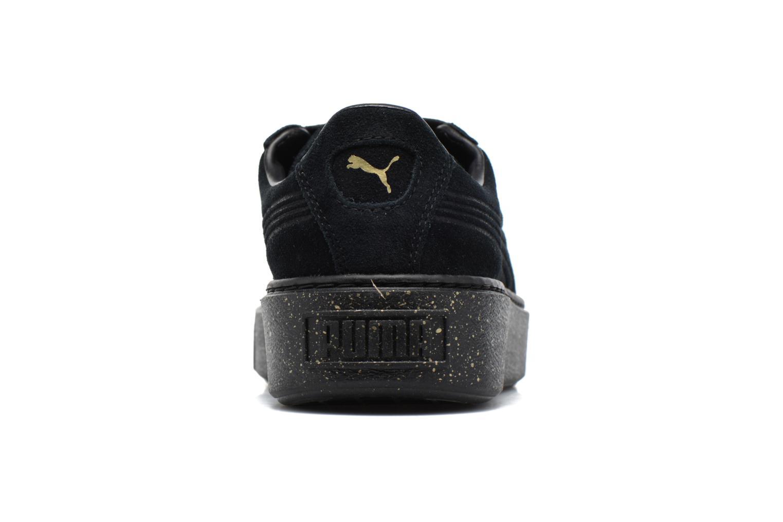 Baskets Puma Wns Suede Platform Speckle Noir vue droite