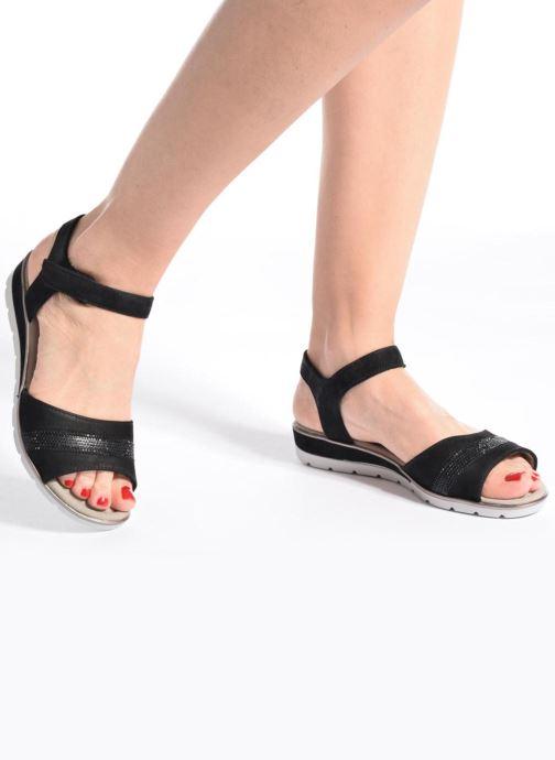 Sandales et nu-pieds Ara Alassio 33526 Noir vue bas / vue portée sac
