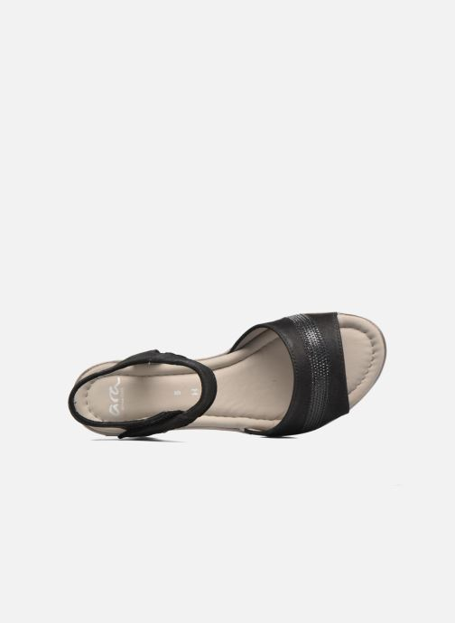 Sandales et nu-pieds Ara Alassio 33526 Noir vue gauche