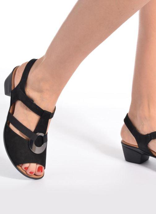 Sandales et nu-pieds Ara Lugano 35715 Noir vue bas / vue portée sac