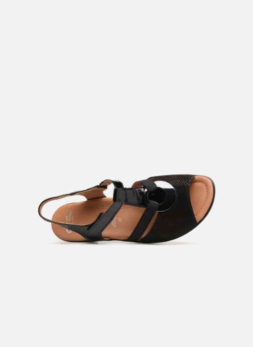 Sandales et nu-pieds Ara Lugano 35715 Noir vue gauche