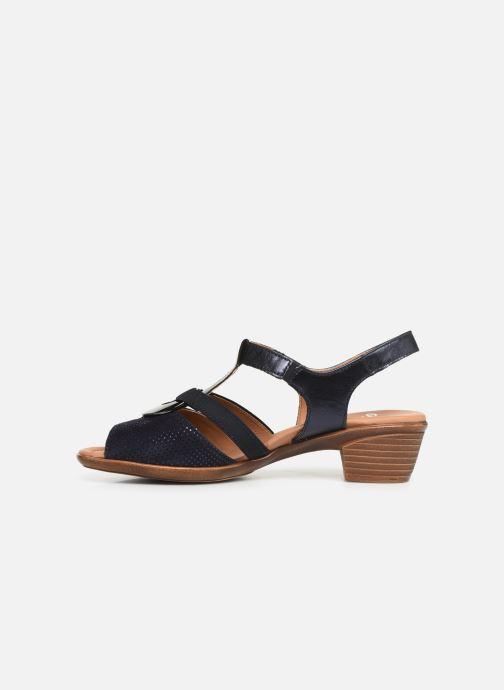Sandales et nu-pieds Ara Lugano 35715 Bleu vue face