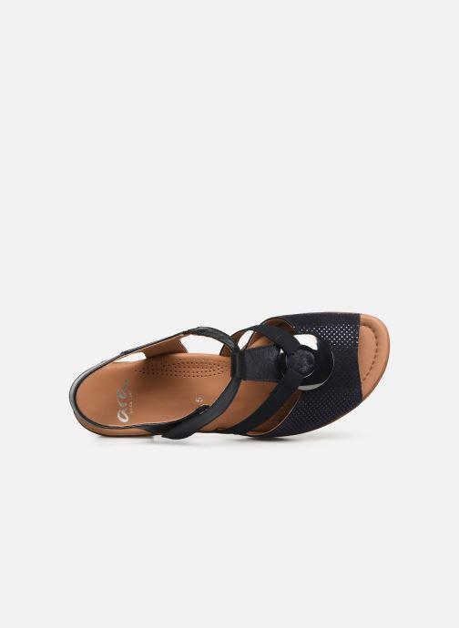 Sandales et nu-pieds Ara Lugano 35715 Bleu vue gauche