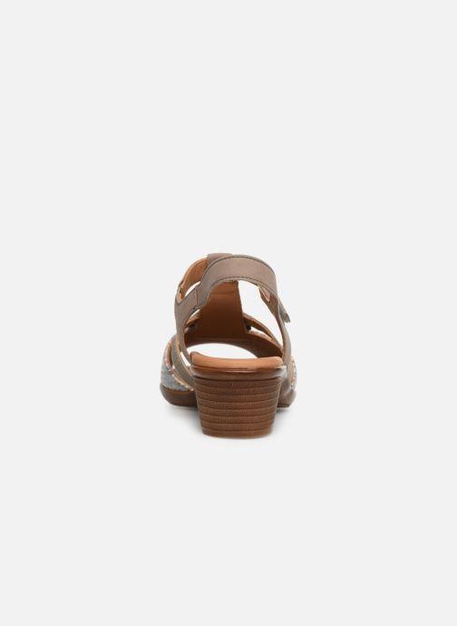 Sandales et nu-pieds Ara Lugano 35715 Beige vue droite
