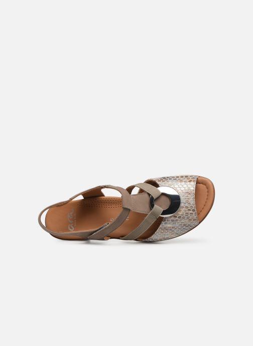Sandales et nu-pieds Ara Lugano 35715 Beige vue gauche